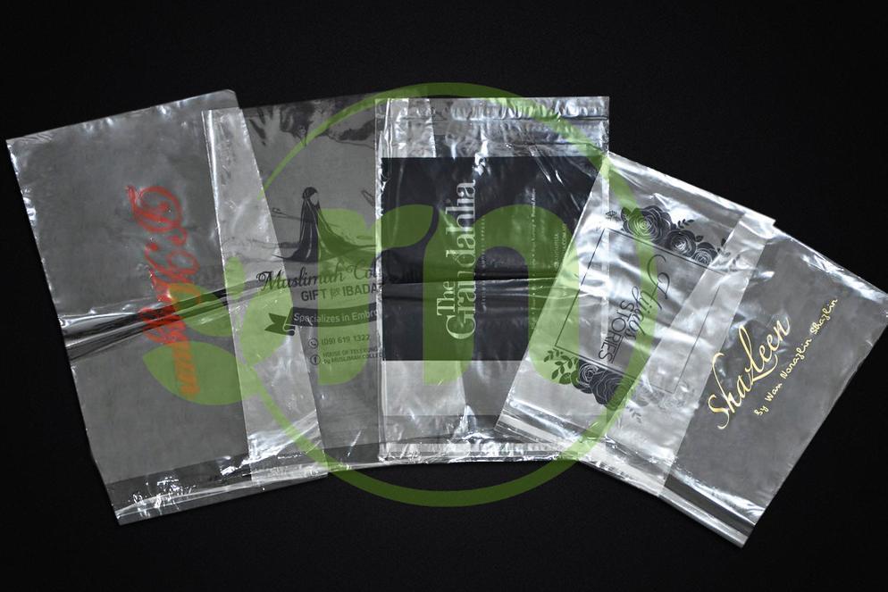 PRINTED PLASTIC BAG ( SELF ADHESIVE PLASTIC) Image
